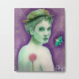 Mimosa Girl 3 Metal Print
