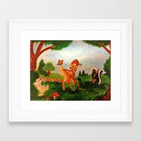 bambi Framed Art Prints featuring Bambi by Jadie Miller