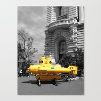 yellow submarine Canvas Prints featuring yellow submarine  by 33bc