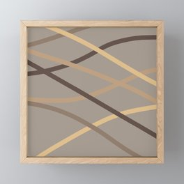 Brown Tone Colour Fusion Framed Mini Art Print