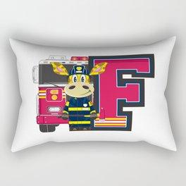 F is for Fireman Rectangular Pillow