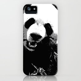Cute Giant Panda Bear with tasty Bamboo Leaves iPhone Case