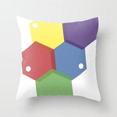 Farbbienenstock Throw Pillow