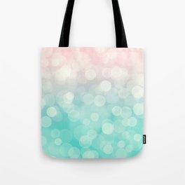 Pink Aquamarine Ombre Bokeh Tote Bag