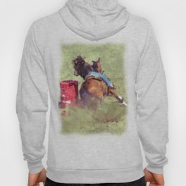 The Barrel Racer - Rodeo Horse and Rider Hoody