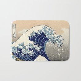 The Great Wave Off Kanagawa Bath Mat