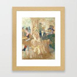 """Henri de Toulouse-Lautrec """"Au Bal masqué de l'Elysée Montmartre"""" Framed Art Print"""