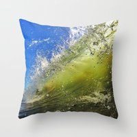 surf Throw Pillows featuring Surf by Nicklas Gustafsson