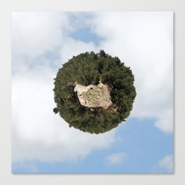 """Worlds in Jerusalem"" - Pine Forest Canvas Print"