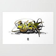 3d graffiti - soul Art Print
