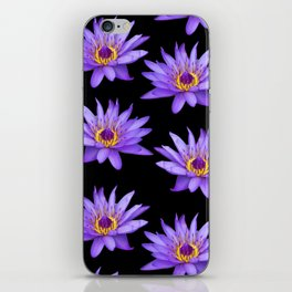 Lotus On Black iPhone Skin