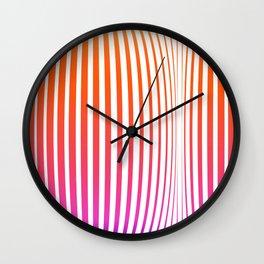 Pink stripes Linear pattern funny Wall Clock