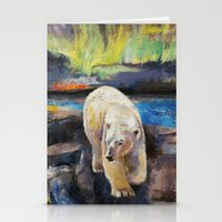 northern lights Stationery Cards featuring Northern Lights by Michael Creese