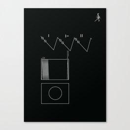 Voyager Golden Record Fig. 2 (Black) Canvas Print