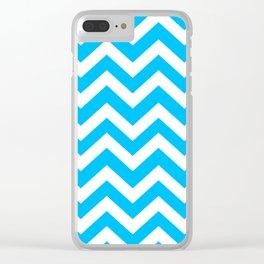 Capri - turquoise color -  Zigzag Chevron Pattern Clear iPhone Case