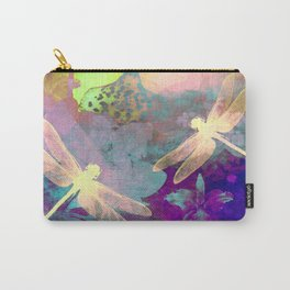 Painting Dragonflies and Orchids A Carry-All Pouch