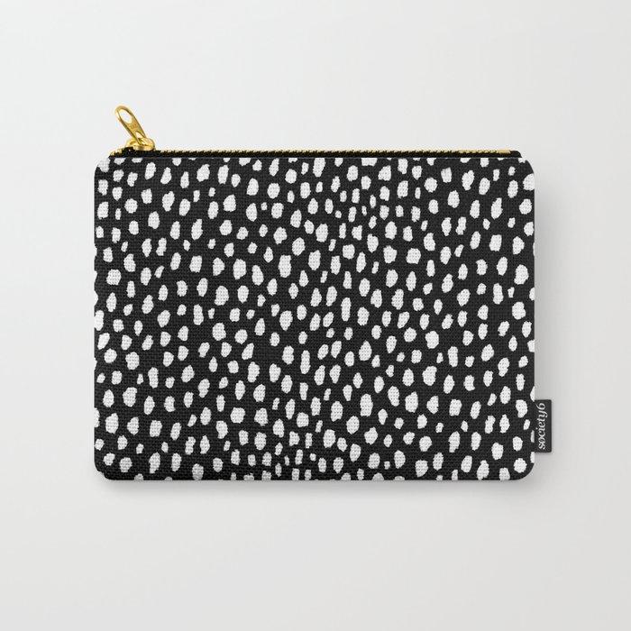 Handmade polka dot brush strokes (black and white reverse dalmatian) Tasche