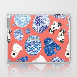Chinoiserie Curiosity Cabinet Toss 3 Laptop & iPad Skin
