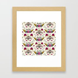 Born To Knit Framed Art Print
