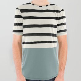 River Stone & Stripes All Over Graphic Tee