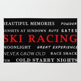 Ski Racing Black Rug