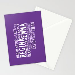 Swan Queen Nicknames - Purple (OUAT) Stationery Cards