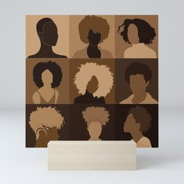 FOR BROWN GIRLS COLLECTION COLLAGE Mini Art Print