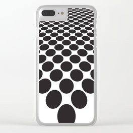 BLACK DOTS ON A WHITE BACKGROUND Abstract Art Clear iPhone Case