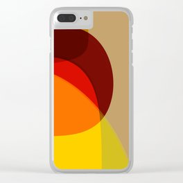 Orange, Yellow and Green Clear iPhone Case