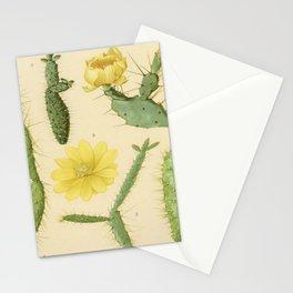 Vintage Botanical Cacti Stationery Cards