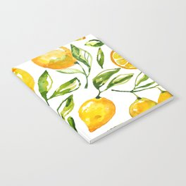 lemon watercolor Notebook