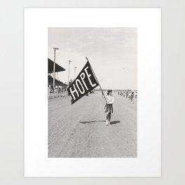 Hope Flag Art Print