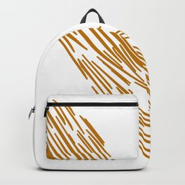 Gold tiger lines on white Backpack