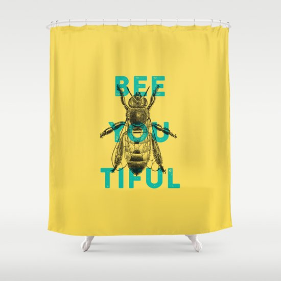Bee-you-tiful Shower Curtain