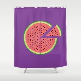 Watermelon Pizza Shower Curtain