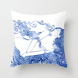 Water Nymph LXVII Throw Pillow