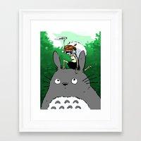 mononoke Framed Art Prints featuring Mononoke by Caity Hall Art