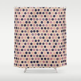 Watercolor funky retro pattern Shower Curtain