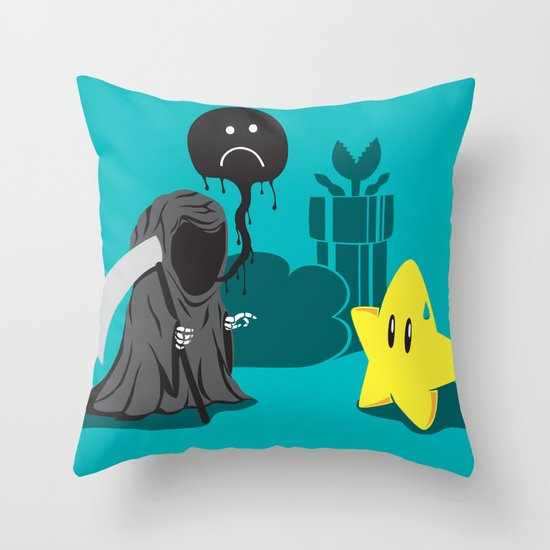Death's worst enemy Throw Pillow