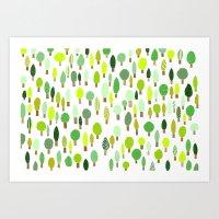 Wood U Green Art Print