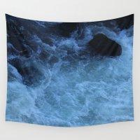 rush Wall Tapestries featuring Overhead Rush by Jeffrey J. Irwin