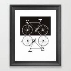 Two Bikes Framed Art Print