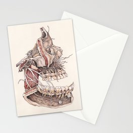 Anatomical Study of the Human Face Stationery Cards
