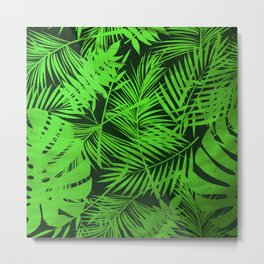 Jungle Leaves Metal Print