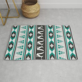 Ethnic pattern with foxes Rug