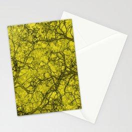 Lemon Yellow Hunting Camo Pattern Stationery Cards