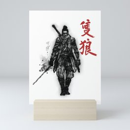 One Armed Wolf Mini Art Print