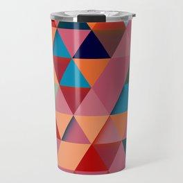 Colorfull abstract darker triangle pattern Travel Mug