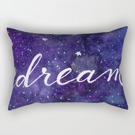 Watercolor galaxy dream Rectangular Pillow