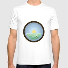 Hibernum Mens Fitted Tee SMALL White
